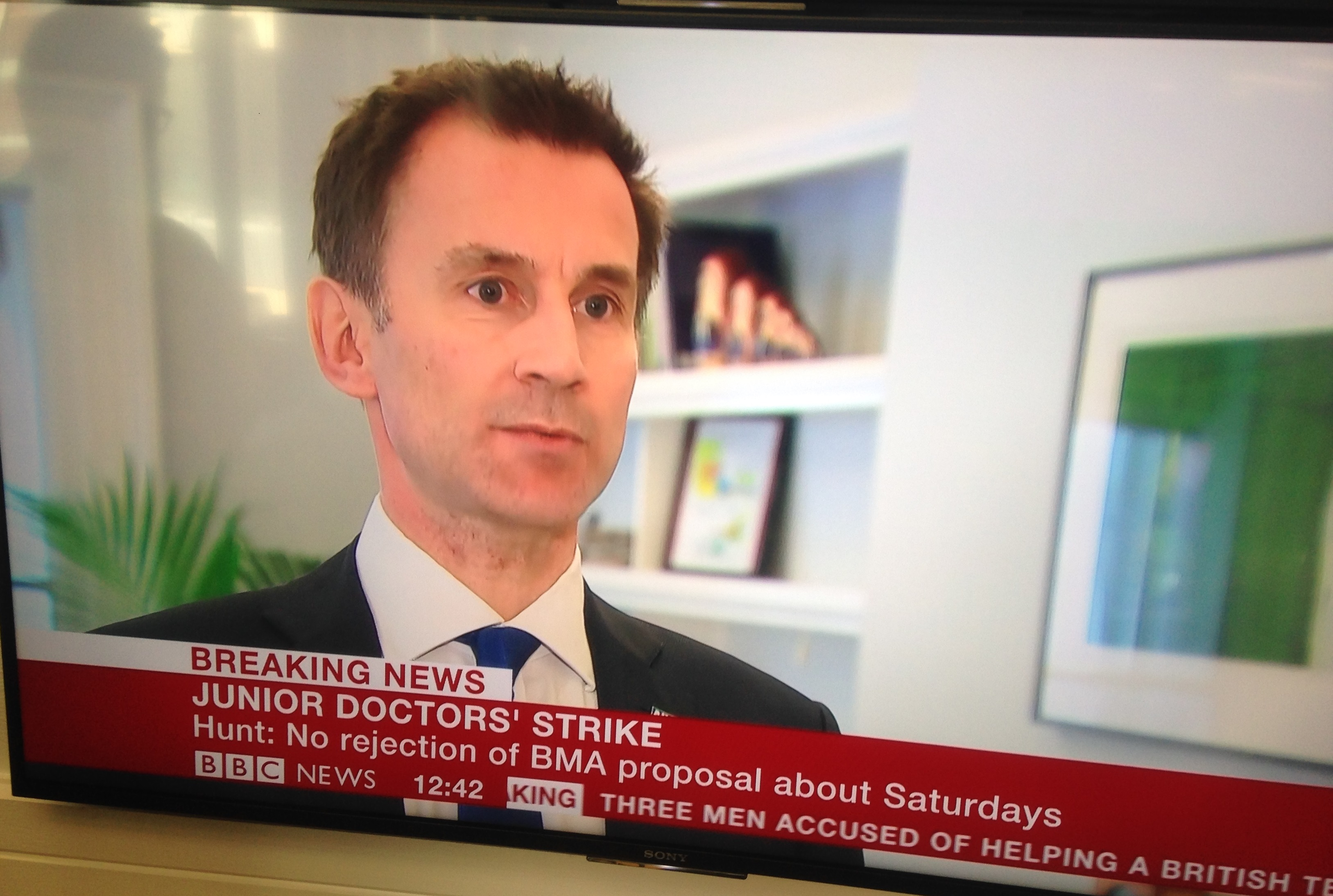 out on strike day an interview the secretary of state sofs on bbc news 100216