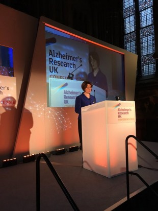 Jane Ellison speaks at the annual Alzheimer's Research UK conference in Manchester